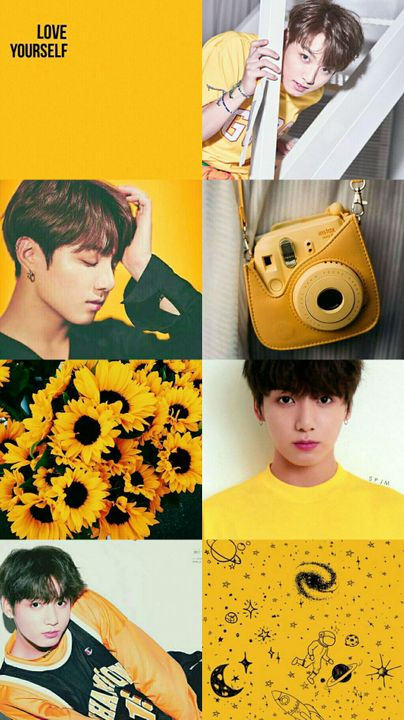 Kpop Aesthetic Collage Requests Closed Bts Jungkook Yellow
