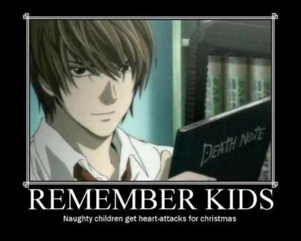 Anime Christmas Meme.Anime Memes Death Note Part 1 Wattpad