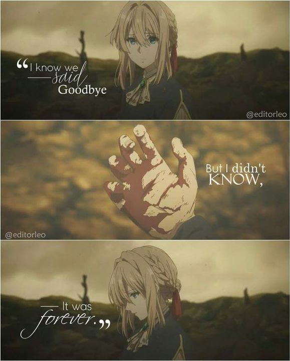 Anime Quotes 54 Violet Evergarden Wattpad