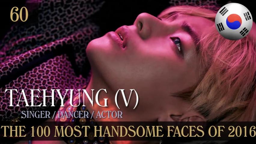 Taehyung obtuvo el lugar 60 como uno de los mejores rostros del 2016 a nivel global
