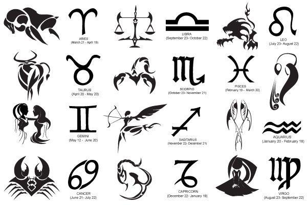 Zodiac Signs Symbols Wattpad