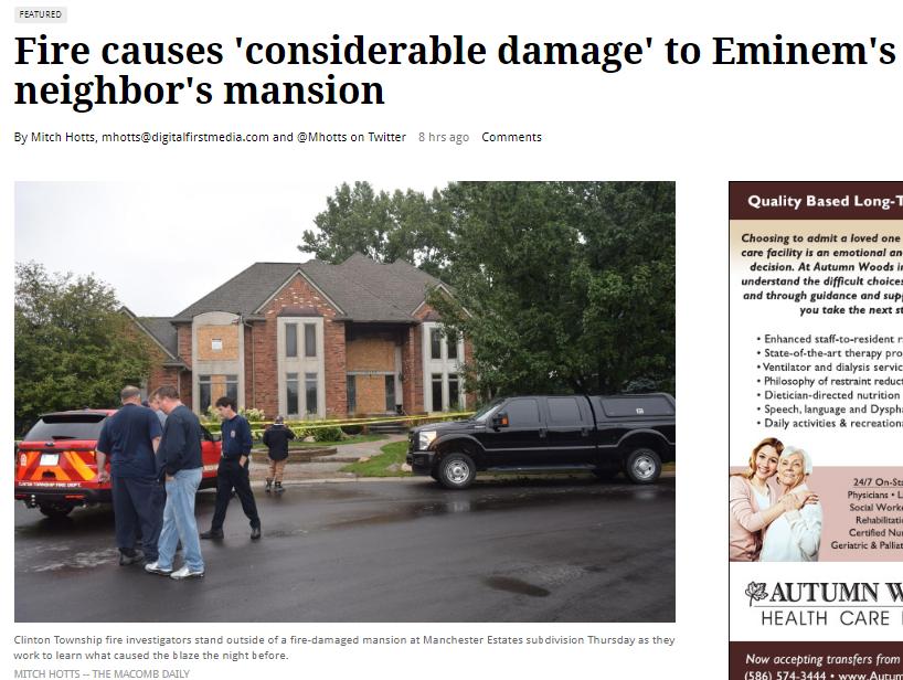 Enn News Eminem S Neighbor House Caught On Fire Wattpad