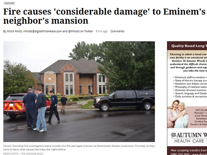 Enn News Eminems Neighbor House Caught On Fire Wattpad
