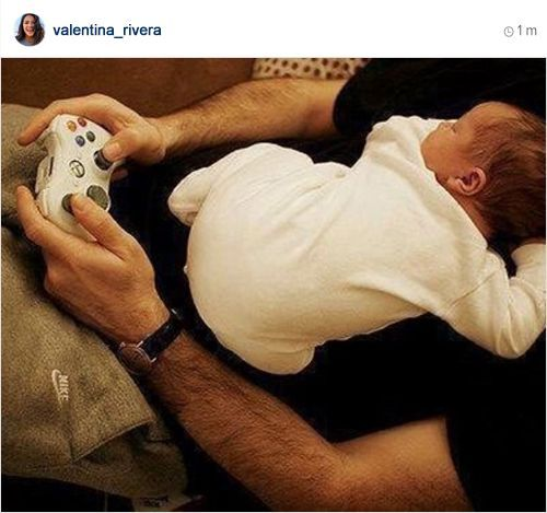 valentina_rivera: i think diego got bored of watching daddy play games💙