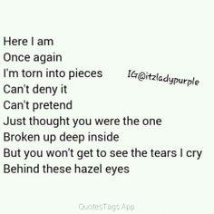 Quotes - Kelly Clarkson~Behind these hazel eyes - Wattpad
