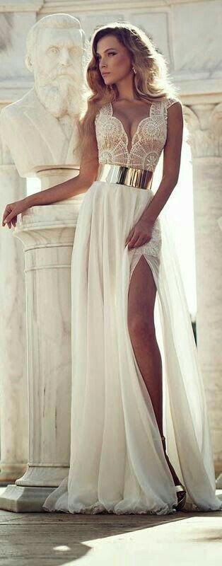 Красивые вечерние белые платья