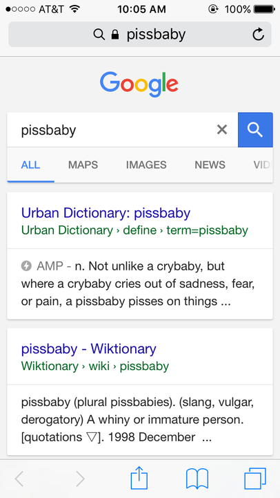 Pissbaby meaning
