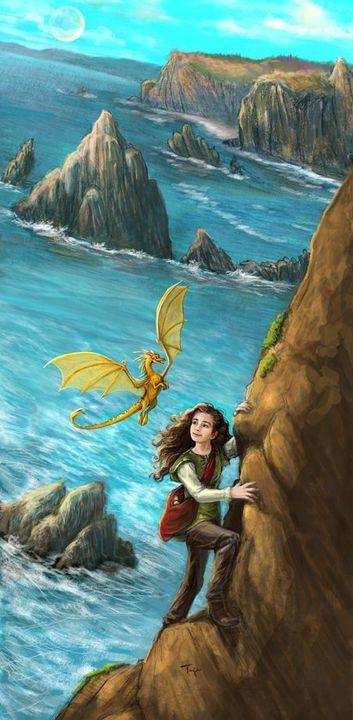 Poczułam lekką, morską bryzę, która sprawiła, że moje włosy zaczęły latać na wszystkie strony, a ja nabrałam trochę odwagi i przyśpieszyłam swoją wspinaczkę