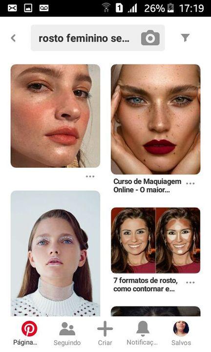 """Primeiro você abre o Pinterest(ou qualquer outro banco de imagem que você use) e pesquise """"Rosto feminino ou Rosto masculino"""""""
