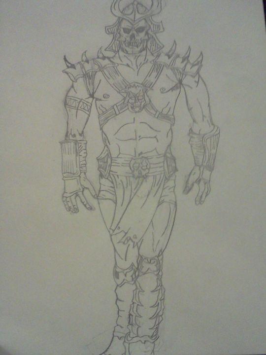 sketch mortal kombat logo drawing