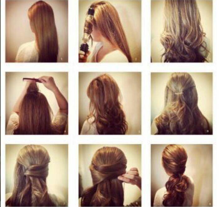 Быстрые прически на длинные волосы в домашних условиях