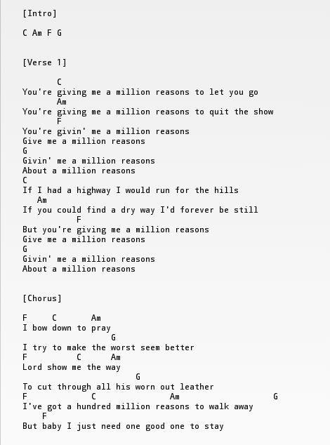 Just Give Me A Reason Ukulele Chords And Lyrics Bradva Docefo