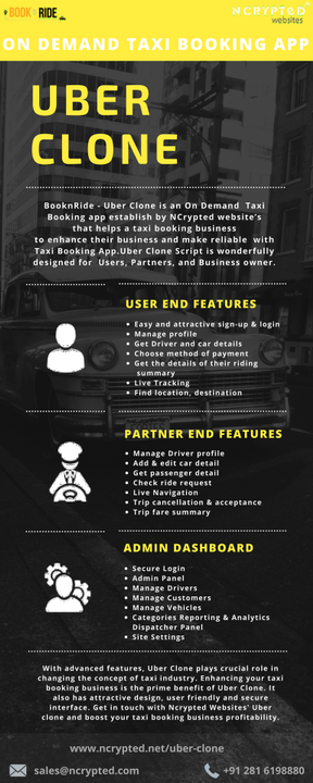 On Demand App Devlopment - 3 modules of ready-to-use Uber Clone for