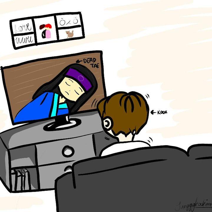 hey! I drew a taekook comic lol