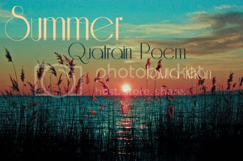 summer quatrain poem Irish poetry • rannaicheacht  written in any number of quatrains with uneven  lines ○ syllabic 3-7-7-7  summer sheds while sparrows sing maiden weds.