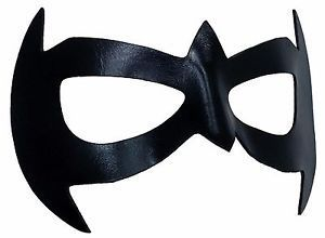 Robin pulled out a black mask from the back of his belt