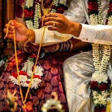 Then the groom will tie it around bride and the groom should tie it by three knots she explained gazing directly at his eyes
