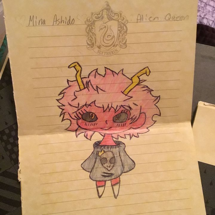 My Drawings Of Characters Mostly Bnha Mina Ashido Chibi