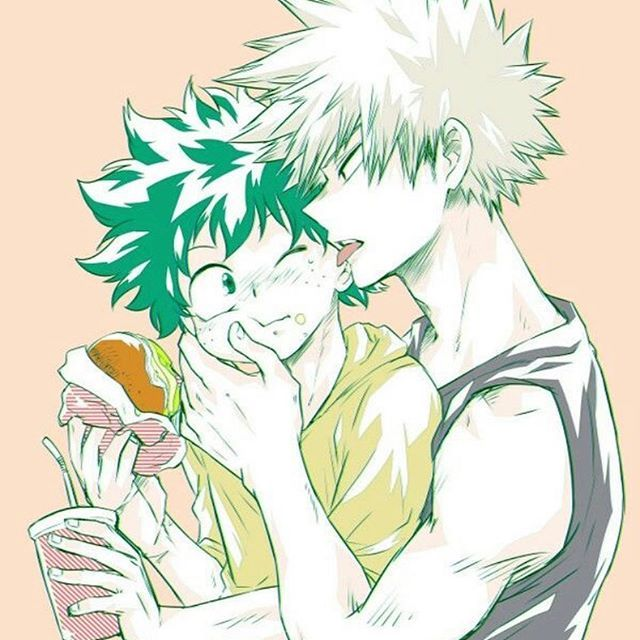 Deku pov So I was just eating at a fast food restaurant with bakugo but bakugo didn't order anything so I did, and he just started to stare at me and I looked at him back then he started getting closer to my face and I sorry blushed and HE LICKED ...