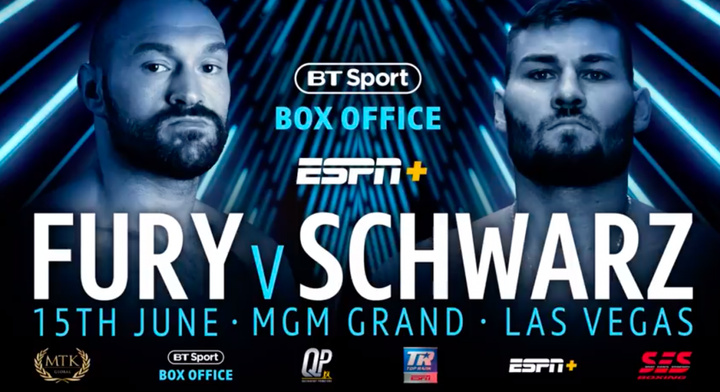 Tyson Fury vs Tom Schwarz: Date and fight time