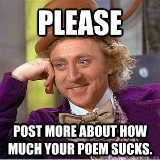 Image result for poetry is stupid meme