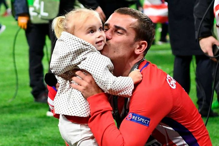 Antoine Griezmann (look at her face, aww it's so adorable)