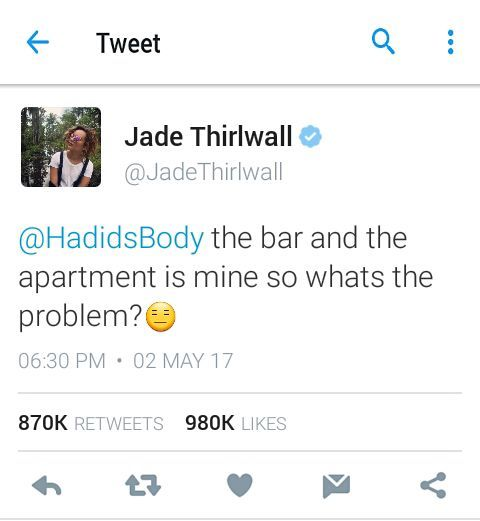 i gasped did she really mean this?? jade owned a bar and the apartment she's living is hers??