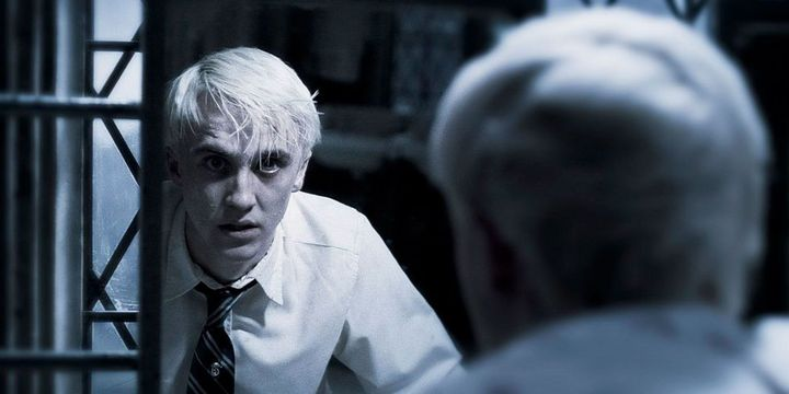 Harry walked out,leaving me and Avry back,Draco noticed Harry and looked through the mirror