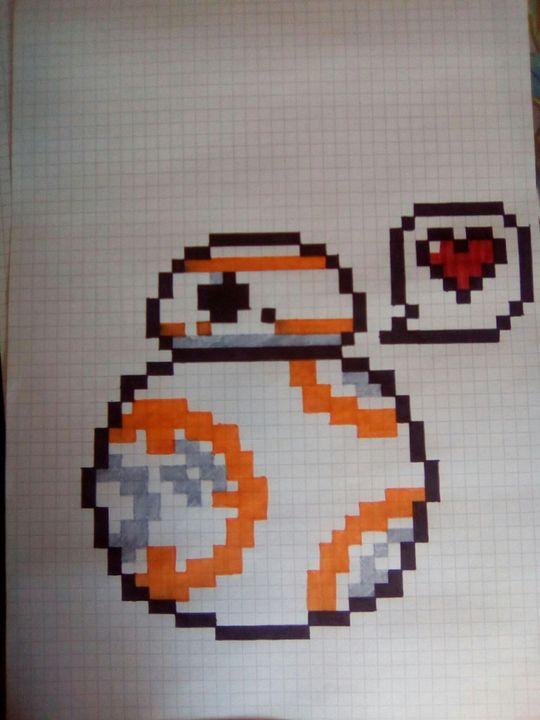 Mes Dessins En Pixel Art Bb8 Wattpad