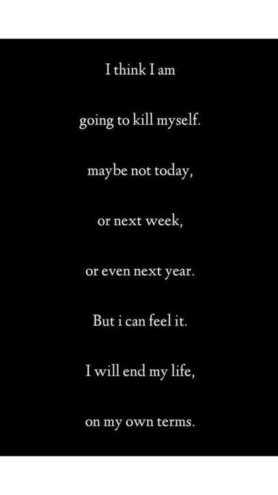 Why not kill myself