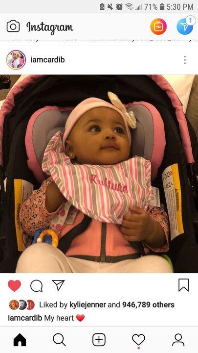 ybnnahmir,iamcardib and 683,378 othersjasminek: awwww baby Kulture i so cuteeeee❤@iamcardib 54863 comments