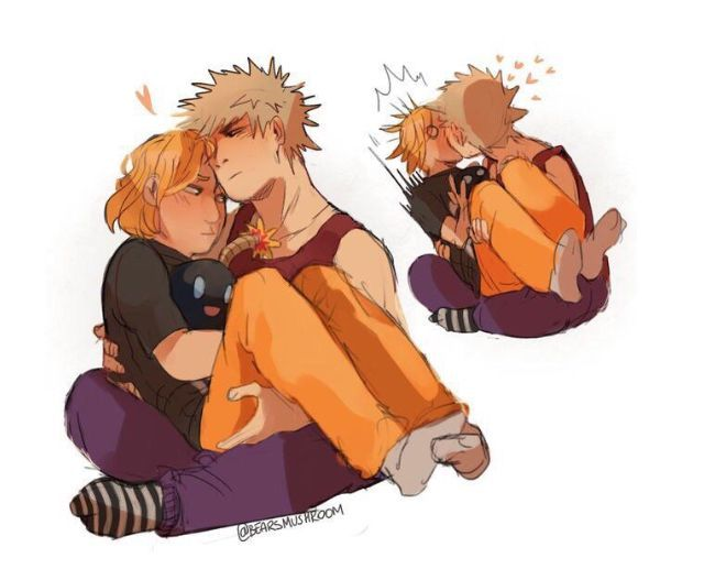 * slowly realizing that Katsuki's hand is on Denki's ass - *