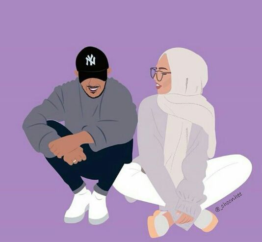 840 Gambar Kartun Muslimah Cinta Segitiga HD