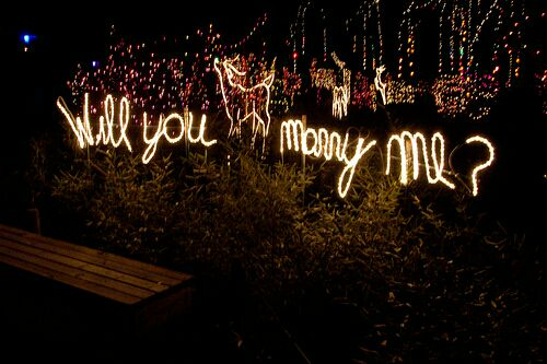 will you marry me written in fireworks