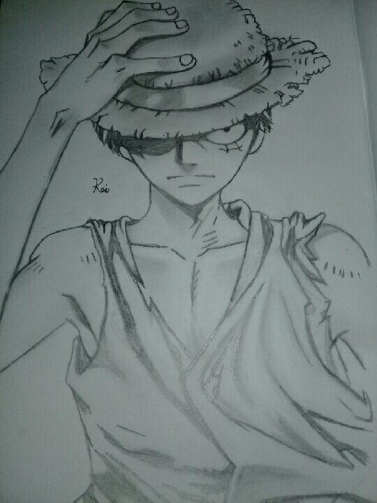 رسوماتي مع اكسو رسم انمي ون بيس لوفي Wattpad