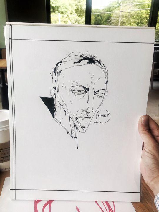 This morning I drew a little vampire 🧛🏼♂️
