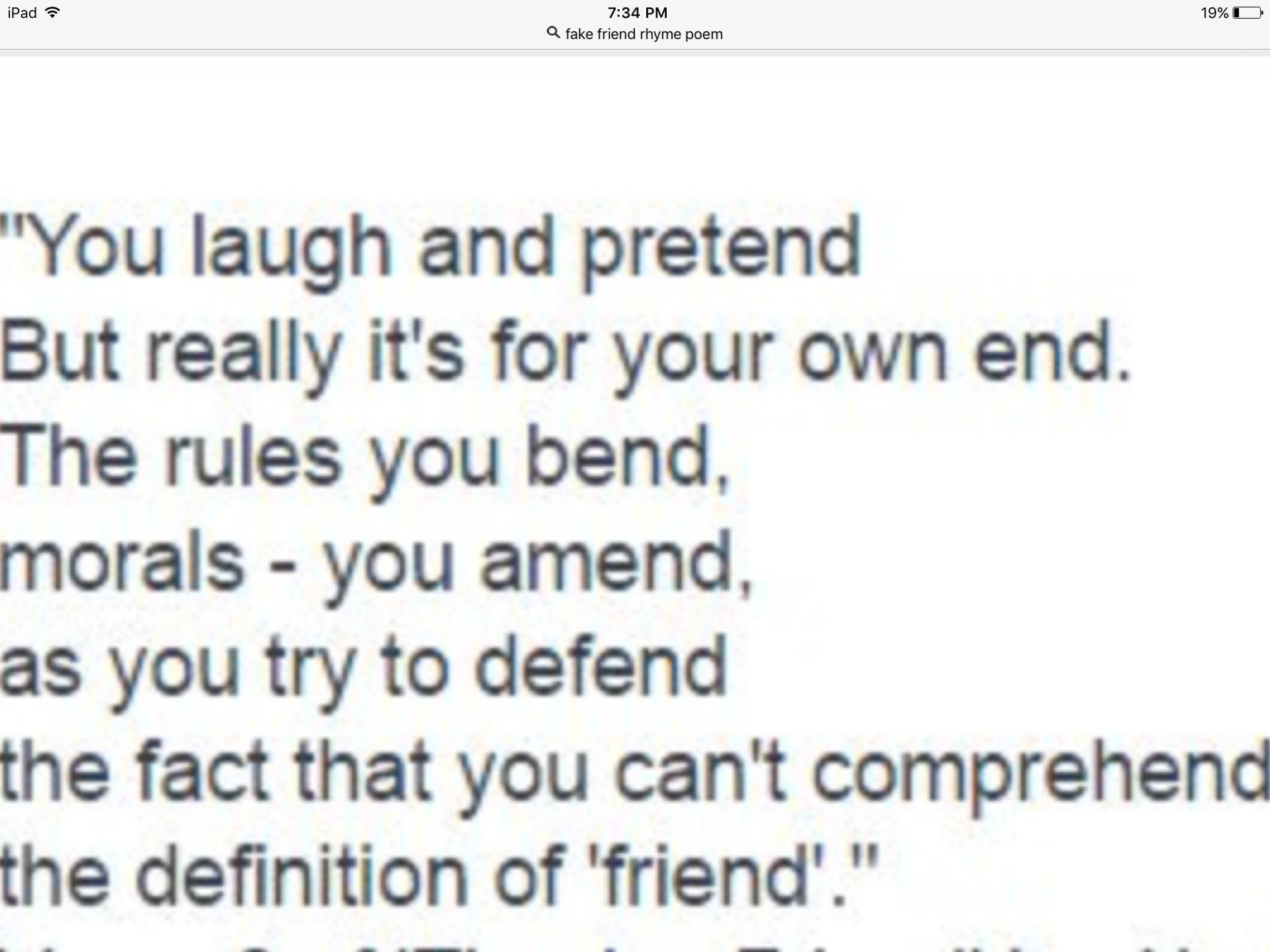 fake friends definition