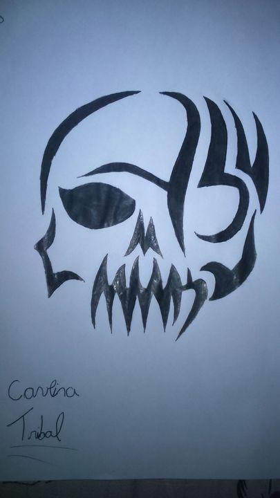 Meus Desenhos 50 Caveira Tribal Wattpad