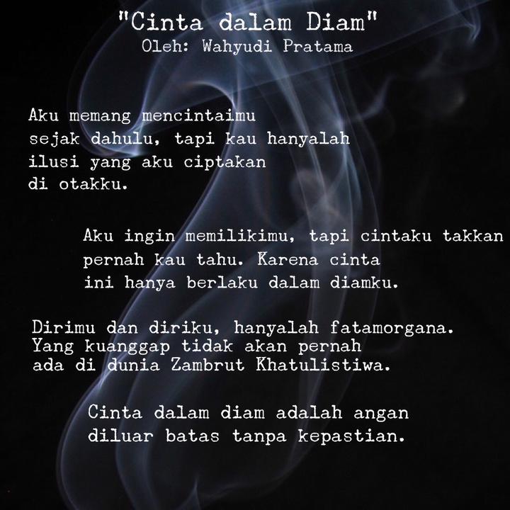 Puisi Cinta Dalam Diam Singkat Celoteh Bijak