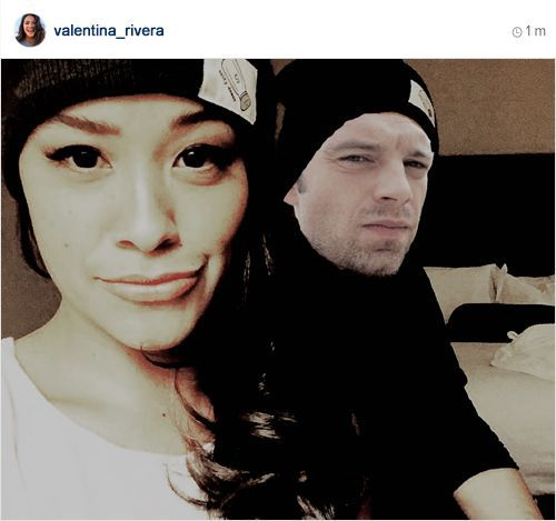 Rivera, left, posted this photo to her Instagram to announce that she and Stan were moving in together