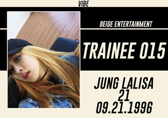FULL NAME: Jung LalisaSTAGE NAME: LalisaNICKNAME: Lisa, LaliBIRTHDATE: September 13, 1996KOREAN AGE: 22HEIGHT: 162 cmWEIGHT: 45 kgHOMETOWN: Seoul, South KoreaNATIONALITY: KoreanETHNICITY: Asian