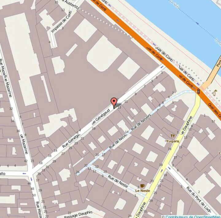 J'ai d'ailleurs fait quelques recherches sur cette rue et elle existe toujours vu que c'est une voie dans le quartier de la monnaie à Paris (6° arrondissement):