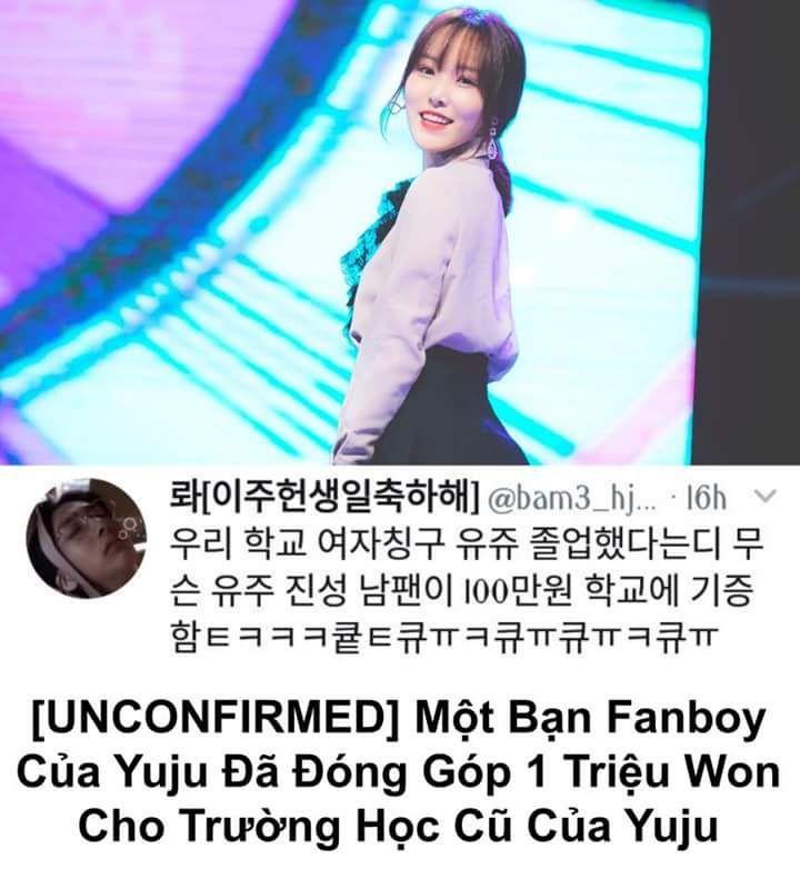 Theo một tài khoản đăng tải trên Twitter, bạn ấy đã nói rằng GFRIEND Yuju