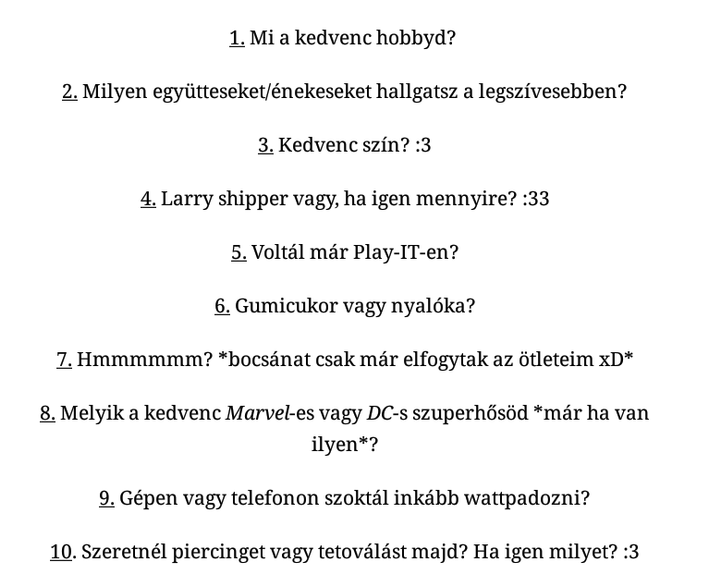 Zakucchi kérdései: