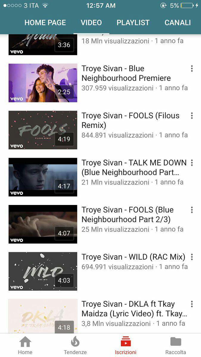 Molte fan di Troye, anche del fandom italiano, si sono lamentate di non vedere più i suoi video musicali: