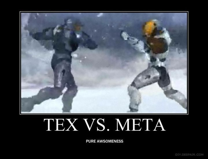 Red Vs Blue Memes and Quotes - Tex Vs Meta - Wattpad
