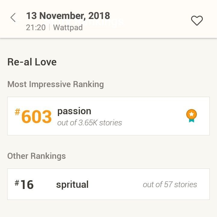 Re-al Love - A/N: Re-al Love Rankings - Wattpad