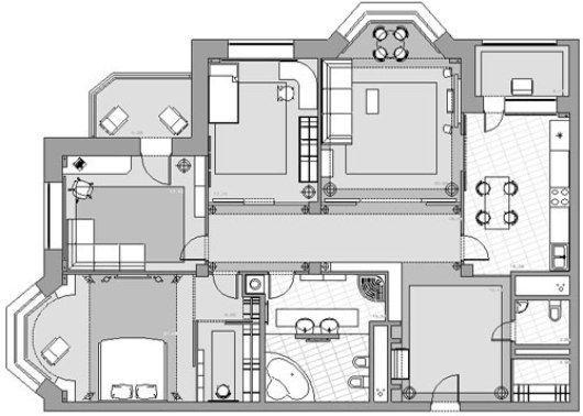 Это схема квартиры