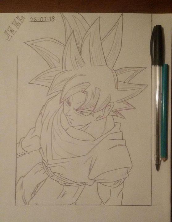Mis Dibujos 8 Goku Ultra Instinto Wattpad