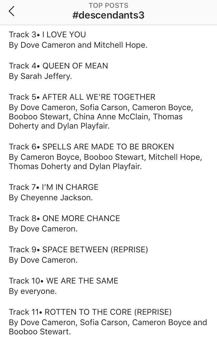 Descendants Truth or Dare - D3 Soundtrack List Leaked